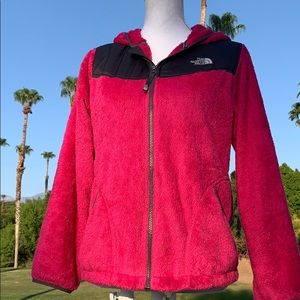 The Northface Pink hoodie jacket sz Xs